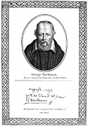 Autograph Framed Prints - George Buchanan (1506-1582) Framed Print by Granger