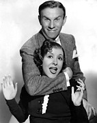 Husband And Wife Framed Prints - George Burns And Gracie Allen, 1936 Framed Print by Everett