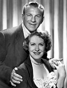 1950s Tv Framed Prints - George Burns And Gracie Allen Show Framed Print by Everett