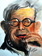 Glasses Pastels - George Burns by Leayn Hochstine