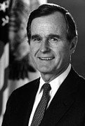 George Herbert Walker Prints - George Bush Sr Print by War Is Hell Store