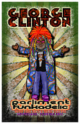 Funk Digital Art Prints - George Clinton Print by John Goldacker