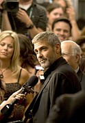 Clooney Metal Prints - George Clooney At Arrivals For Michael Metal Print by Everett