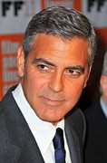 Clooney Framed Prints - George Clooney At Arrivals For The Framed Print by Everett
