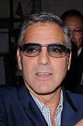 Kelly Photo Prints - George Clooney, Leaves The Live With Print by Everett