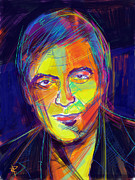 Portraits Mixed Media - George Clooney by Russell Pierce