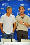 Toronto International Film Festival Tiff Framed Prints - George Clooney, Ryan Gosling Framed Print by Everett