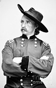 General Custer Posters - George Custer, American Calvary Officer Poster by Photo Researchers
