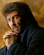 The Beatles George Harrison Paintings - George by Douglas Fincham