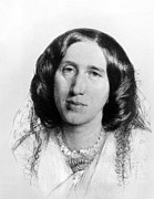 Author Prints - George Eliot,  1864 Print by Everett