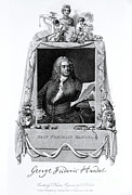 Georg Framed Prints - George Frideric Handel, German Baroque Framed Print by Omikron