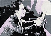 Black Tie Paintings - George Gershwin Composing by Sheri Parris