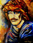 Guitarists Paintings - George Harrison by Carole Spandau