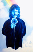 Beatles Songs Prints - George Harrison Print by Purcell Pictures