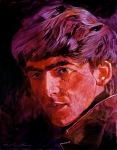 Guitar Player Paintings - George Harrison by David Lloyd Glover