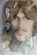Harrison Painting Originals - George Harrison Give Me Love Give Me Hope by Christian Lebraux Kennedy