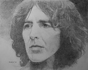 Beatles Drawings - George Harrison by Glenn Daniels