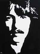 Harrison Painting Originals - George Harrison by Kenneth Regan