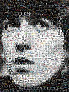 Harrison Mixed Media Prints - George Harrison Mosaic Print by Paul Van Scott