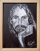 Eric Clapton Art - George Harrison Portrait by Annette Steens