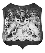 House Lion Prints - George Iii: Coat Of Arms Print by Granger