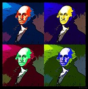 U S Founding Father Posters - GEORGE in COLORS Poster by Rob Hans