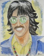 George Harrison Painting Originals - George by Joseph Papale