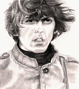 The Beatles  Drawings - George by Kathleen Kelly Thompson