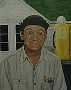Andy Griffith Show Paintings - George Lindsey as Goober by Tresa Crain