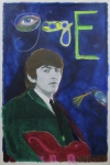 Rock And Roll Mixed Media Originals - George by Mike  Mitch