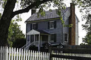 Confederate Monument Photo Prints - George Peers House Appomattox Virginia Print by Teresa Mucha