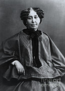 1876 Prints - George Sand, French Author And Feminist Print by Photo Researchers, Inc.