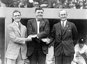 Sport Legends Framed Prints - George Sisler - Babe Ruth and Ty Cobb - Baseball Legends Framed Print by International  Images
