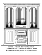 1860 Drawings - George Stevens Tracker Organ by Sue Hartman