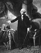 Colonial Man Framed Prints - George Washington, 1st American Framed Print by Omikron