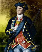 Colonial Man Posters - George Washington, 1st American Poster by Photo Researchers, Inc.