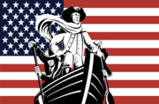 Stars And Stripes Prints - George Washington Print by Aloysius Patrimonio