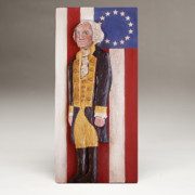 Wood Reliefs Framed Prints - George Washington and the 13 Stars Framed Print by James Neill