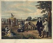 Servant Prints - George Washington As A Plantation Print by Everett
