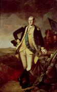 Flag Painting Framed Prints - George Washington at Princeton Framed Print by Charles Willson Peale