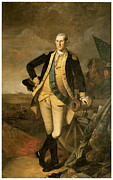 George Washington Framed Prints - George Washington at Princeton Framed Print by Charles Wilson Peale