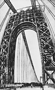 Historical People Posters - George Washington Bridge Poster by Photo Researchers