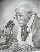 African American Artist Drawings Posters - George Washington Carver Poster by Ashanti A Johnson