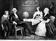 Lady Washington Prints - George Washington Family Print by Granger
