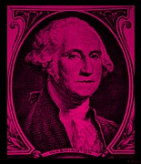 U S Founding Father Posters - GEORGE WASHINGTON in HOT PINK Poster by Rob Hans