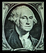 U S Founding Father Prints - GEORGE WASHINGTON in LIGHT GREEN Print by Rob Hans