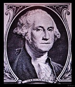 U S Founding Father Prints - GEORGE WASHINGTON in LIGHT PINK Print by Rob Hans