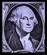 U S Founding Father Prints - GEORGE WASHINGTON in LIGHT PURPLE Print by Rob Hans