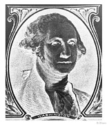 U S Founding Father Prints - GEORGE WASHINGTON in NEGATIVE Print by Rob Hans