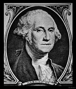 U S Founding Father Posters - GEORGE WASHINGTON in WHITE Poster by Rob Hans